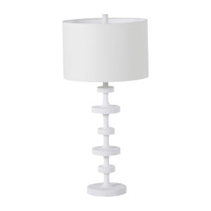 Olivia Plaster White One-Light Table Lamp