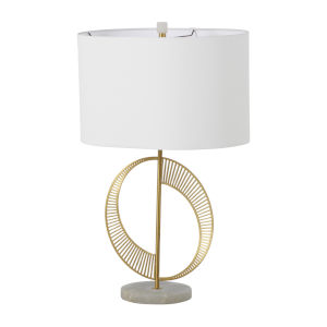 Jules Brass and White One-Light Table Lamp