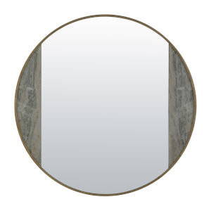 Sherry Green Meadow and Champagne Wall Mirror