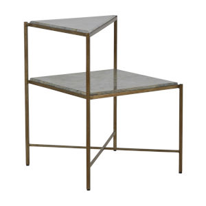Jayce Textured Champagne Side Table