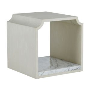 Ceci Cerused White Side Table