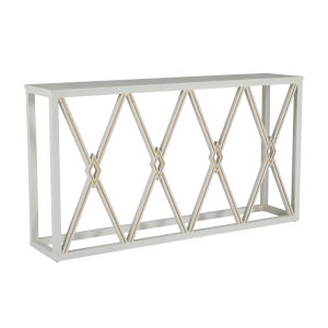 Alandra Cerused White and Stained Gold Console Table