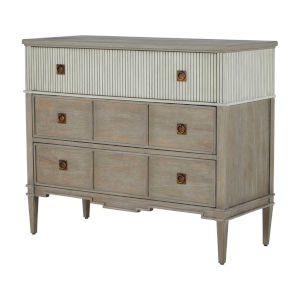 Winslet Sesame White and Cerused Gray Chest