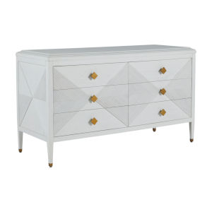 Julia Cerused White and Stained Gold Dresser