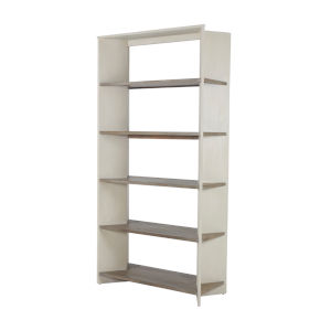Vaughn Cerused White and Natural Bookcase