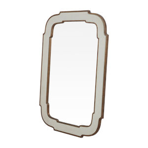 Joanie Antique White 40-Inch Mirror