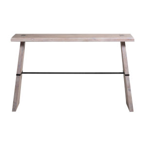 Havana Sesame White and Brass 52-Inch Console Table