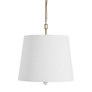 Noni Matte Antique Brass and Cream Two-Light Pendant
