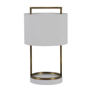 Harmon Matte Antique Brass One-Light Table Lamp