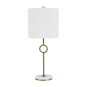 Kerry Matte Antique Brass One-Light Table Lamp