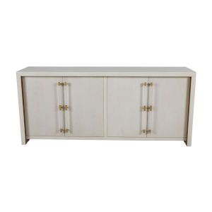 Winford Cerused White and Stain Gold 80-Inch Cabinet