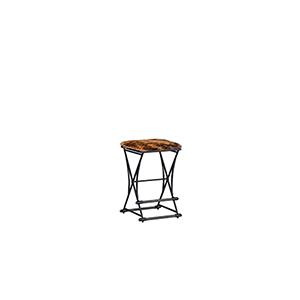 Shields Cerused Oak and Soft Black Iron 16-Inch Barstool