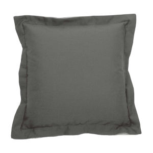 Verona Pewter 17 x 17 Inch Pillow with Double Flange