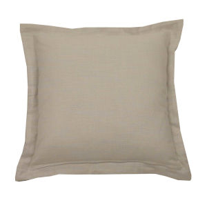 Verona Almond 17 x 17 Inch Pillow with Double Flange