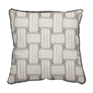 Arcade Pewter 17 x 17 Inch Pillow with Flat Welt