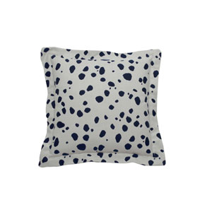 Spotty 20-Inch Indigo Throw Pillow