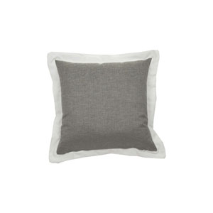 Spotty 20-Inch Pewter Throw Pillow