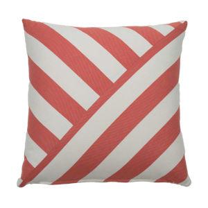 Halo Flamingo 20 x 20 Inch T-Stripe Pillow with Knife Edge