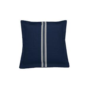 Vintage Stripe 20-Inch Indigo Throw Pillow