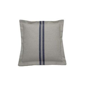 Vintage Stripe 20-Inch Gray and Indigo Throw Pillow
