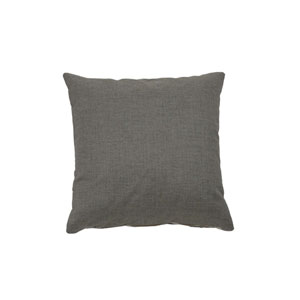 Fortune 20-Inch Pewter Throw Pillow
