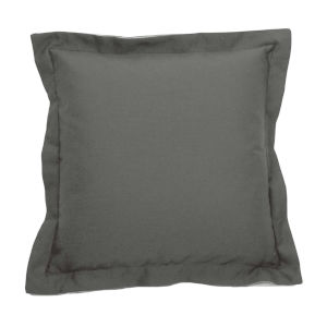 Verona Pewter 20 x 20 Inch Pillow with Double Flange