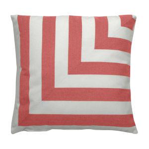 Halo Flamingo 20 x 20 Inch L-Stripe Pillow with Knife Edge