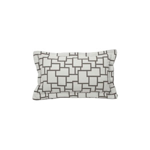 Magnitude 20-Inch Pewter Throw Pillow