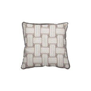 Arcade 20-Inch Pewter Throw Pillow