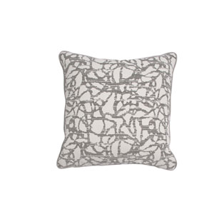 Surge 20-Inch Pewter Throw Pillow