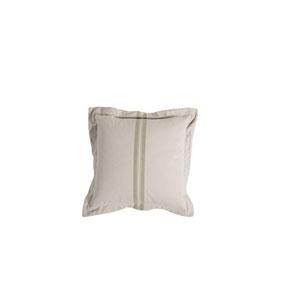 Vintage Stripe 20-Inch Sage Throw Pillow