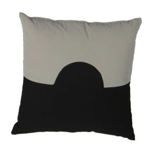 Eclipse Almond and Midnight 20 x 20 Inch Pillow with Knife Edge