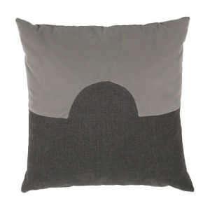 Eclipse Pewter and Stone 20 x 20 Inch Pillow with Knife Edge