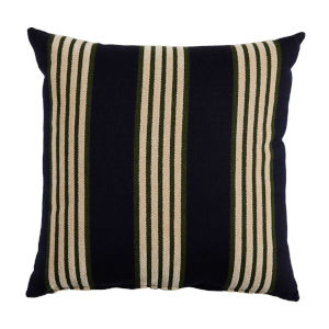 Bradford Stripe Navy and Mallard 20 x 20 Inch Pillow with Knife Edge