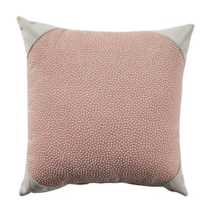 Blush and Almond 20 x 20 Inch Pillow with Velvet Corner Cap