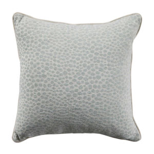 Cheetah Mist Velvet 20 x 20 Inch Pillow with Linen Welt