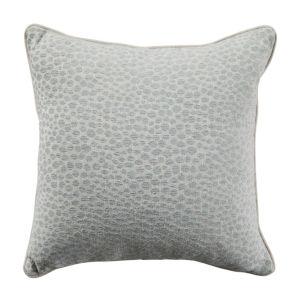 Cheetah Mist Velvet 20 x 20 Inch Pillow with Linen Welt