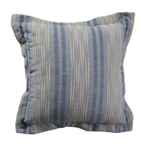 Calmer Chambray and Stone 20 x 20 Inch Pillow with Double Flange