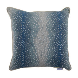 Fawn Chambray 20 x 20 Inch Pillow with Mohave Welt