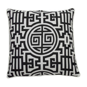 Nobu Midnight and Snow 22 x 22 Inch Pillow with Welt