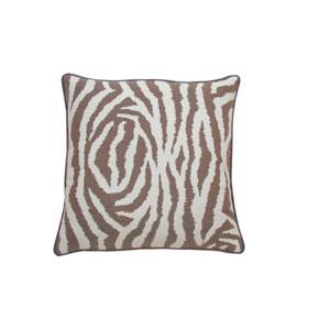 Zebra 22-Inch Almond Throw Pillow