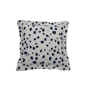 Spotty 22-Inch Indigo Throw Pillow