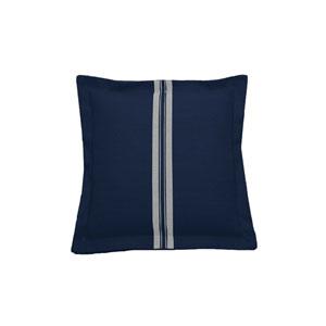 Vintage Stripe 22-Inch Indigo Throw Pillow