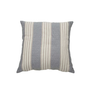 Bradford Stripe 22-Inch Almond and Pewter Throw Pillow