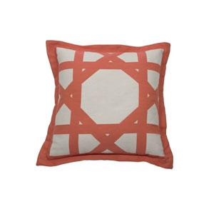 Cane 22-Inch Flamingo Throw Pillow