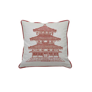 Pagoda Dynasty 22-Inch Cajun Throw Pillow