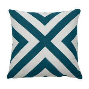 Halo Reef 22 x 22 Inch X-Stripe Pillow with Knife Edge