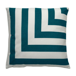 Halo Reef 22 x 22 Inch L-Stripe Pillow with Knife Edge
