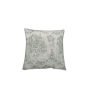 Osaka Toile 22-Inch Mist Throw Pillow