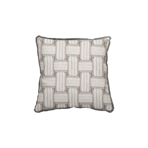 Arcade 22-Inch Pewter Throw Pillow